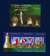 St. Tomé Y Príncipe / Jersey (2 Hojas Bloque)  En Nuevo - Sellos