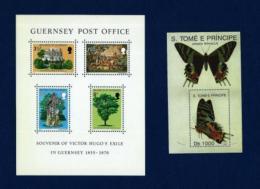 St. Tomé Y Príncipe / Guernsey (2 Hojas Bloque)  En Nuevo - Mezclas (max 999 Sellos)