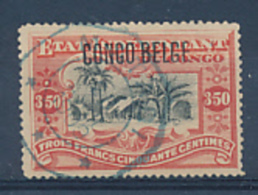BELGIAN CONGO BOX 2 1909 ISSUE COB 47 PLATE NUMBER 22 USED - Congo Belga