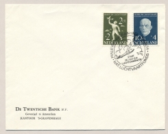 Nederland - 1954 - Serie Nationaal Luchtvaart Fonds Met Stempel Start Jeugd- En Luchtvaart Actie -niet Gelopen Cover - Briefe U. Dokumente
