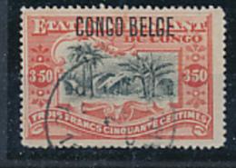 BELGIAN CONGO BOX 2 1909 ISSUE COB 47 PLATE NUMBER 14 USED - Belgian Congo
