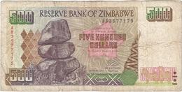 Zimbabue - Zimbabwe 500 Dollars 2001 Pick 11a Ref 1803 - Zimbabwe