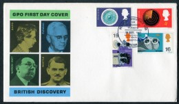 1967 GB British Discoveries First Day Cover. Alexander Fleming, St Mary's Hospital, Paddington - FDC