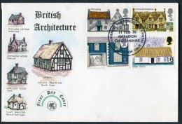 1970 GB Architecture First Day Cover. Cottages FDC. Aberaeron - FDC