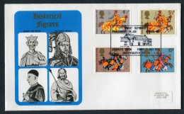 1974 GB Great Britons First Day Cover. Owain Glyndwr, Welsh Parliament - FDC