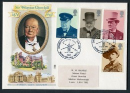 1974 GB Churchill First Day Cover. Woodford Green, Essex FDC - FDC
