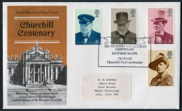 1974 GB Churchill First Day Cover. Oldham - FDC