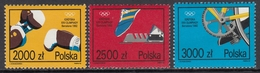 Poland 1992 - Sports: Cycling, Boxing, Sprint Running - Part Set Mi 3389-3391 ** MNH - Ciclismo
