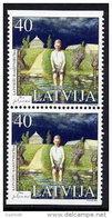 LATVIA 2002  Writer: Janis Jaunsudrabins Booklet Pair MNH / **.  Michel 572 Do-u - Latvia