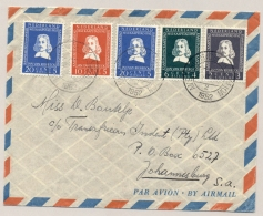 Nederland - 1952 - Overcomplete Riebeeck Serie Op LP-cover Van Amsterdam Naar Johannesburg / South Africa - 1949-1980 (Juliana)