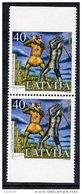LATVIA 2005 Writer: Janis Rainis Booklet Pair  MNH / **.  Michel 643 Do-u - Latvia
