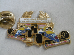 Pin 's - Automobiles F1 WILLIAMS RENAULT Champion Du Monde 92 - Signé ARTHUS BERTRAND PARIS - F1