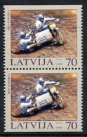 LATVIA 2003 Motorsport Booklet Pair MNH / **.  Michel 599 Do-u - Latvia