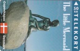 Denmark, TS 019A, The Little Mermaid, 50 Kr, Mint Only 1.000 Issued, 2 Scans. - Denmark