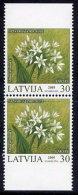 LATVIA 2005 Protected Flowers Booklet Pair MNH / **.  Michel 632 Do-u - Latvia