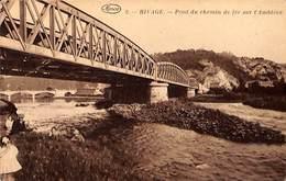Rivage - Pont Du Chemin De Fer Sur L'Amblève (animée, Marco Marcovici, Hôtel De La Ferme) - Sprimont