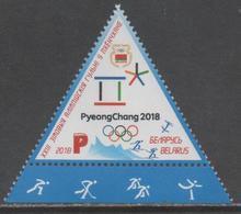 BELARUS , 2018, MNH, WINTER OLYMPICS, PYEONGCHANG, TRIANGLE STAMP, 1v - Giochi Olimpici