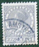 27 1/2 Ct Wilhelmina Perf 12 1/2 Watermark Rings NVPH 193 A (Mi 217 A) 1926 1928 Gestempeld USED NEDERLAND / NIEDERLANDE - Used Stamps