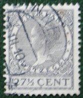 27 1/2 Ct Wilhelmina Perf 12 1/2 Watermark Rings NVPH 193 A (Mi 217 A) 1926 1928 Gestempeld USED NEDERLAND / NIEDERLANDE - Period 1891-1948 (Wilhelmina)