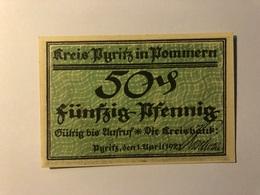 Allemagne Notgeld Pyrtitz 50 Pfennig - [ 3] 1918-1933 : Weimar Republic