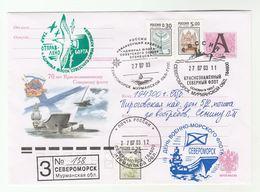 SEVEROMORSK SHIP  - NORTHERN FLEET 70th ANNIV Registered COVER 2003 - FLEET ADMIRAL SHIP  Russia Stamp - Ships