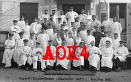BADEN BADEN Badischer Hof Lazarett Krankenschwester 1914 Feldpost Verwundete Arzt Rotes Kreuz - Weltkrieg 1914-18