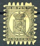 1866 Finland 10 Penni Fine Used - 1856-1917 Russian Government