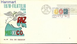 Mexico 1971 Mi 1343 FDC ( FDC ZS1 MXC1343 ) - Stamps On Stamps