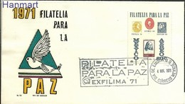 Mexico 1971 Mi 1353 FDC ( FDC ZS1 MXC1353 ) - Stamps On Stamps