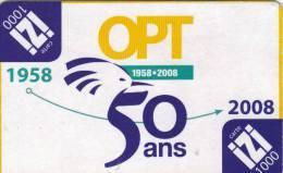Carte Izi 50 Ans De L'opt - New Caledonia