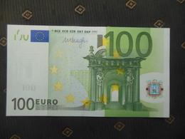 "100 EURO "" V "" M005 A1... SPAIN- ESPANHA, DRAGHI,  FDS - UNC - EURO"