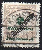 GERMANY REICH 1923. DIENSTMARKE MiNr. 84 USED, CAT. VALUE 150€ - Germany