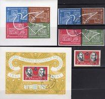 Raumfahrt 1962 Rumänien 2029,2090/3,Blocks 51+53 O 12€ M/s Space Blocs Botanic Ss Stamp On Stamps Sheets Bf ROMANIA - Space