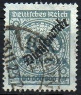 GERMANY REICH 1923. DIENSTMARKE MiNr. 82 USED Tested BPP, CAT. VALUE 200€ - Germany