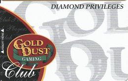Gold Dust Casino - Deadwood SD - BLANK Diamond Privileges Slot Card - Casino Cards