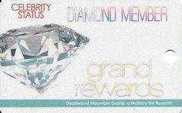 Deadwood Mountain Grand Casino - Deadwood, SD - BLANK Diamond Slot Card - Casino Cards