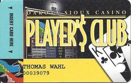 Dakota Sioux Casino - Watertown, SD - Slot Card - ACC Over Mag Stripe - Casino Cards