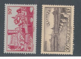 FRANCE - N°YT 449/50 NEUFS** SANS CHARNIERE - COTE YT : 2.95€ - 1939 - Neufs