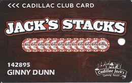 Cadillac Jack Casino - Deadwood, SD - Slot Card - Casino Cards