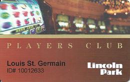 Lincoln Park Racino / Casino - Lincoln RI - 1st Issue Players Club Card - Casino Cards