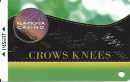 Kla-Mo-Ya Casino - Chiloquin OR - BLANK Slot Card - Casino Cards
