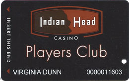 Indian Head Casino - Warm Springs, OR USA - Slot Card - Casino Cards