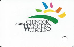 Chinook Winds Casino - Lincoln City, OR  - BLANK 4th Issue Slot Card (no Text Over Mag Stripe) - Casino Cards