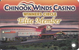 Chinook Winds Casino - Lincoln City, OR  - Elite Member Slot Card - Casino Cards