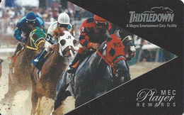 Thistledown Race Track - Cleveland OH - Player Rewards Card - Casino Cards