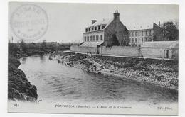PONTORSON - N° 144 - L' ASILE ET LE COUESNON - CPA NON VOYAGEE - Pontorson