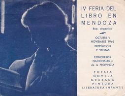 IV FERIA DEL LIBREO EN MENDOZA. LU8MAQ. CIRCA 1965's RADIO HAM- BLEUP - Radio-amateur