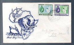 Elephant Scarce Early FDC 1953 (265) - Kenya, Uganda & Tanganyika