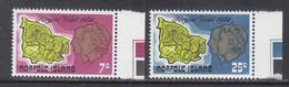 NORFOLK  ISLAND  172-3  **  MAP  ROYAL  VISIT - Norfolk Island