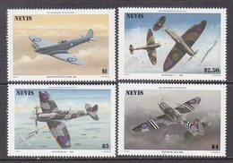 NEVIS  460-63    **   RAF  AIRPLANES   BATTLE  OF  BRITAIN - St.Kitts And Nevis ( 1983-...)
